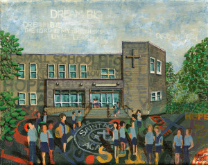 A Painting of St. Agatha Academy